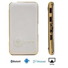 Портативный WiFi DLP проектор Everycom S6 plus Android OS 32Гб, белый с золотом