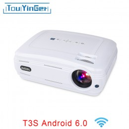 LED проектор Touyinger T3S Android 6.0 белый, арт. 580