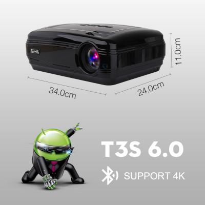 LED проектор Touyinger T3S Android 6.0 черный
