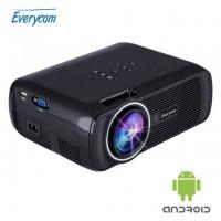 LED ТВ проектор Everycom X7s plus Android 4.4 черный, арт. 413