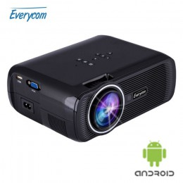 LED ТВ проектор Everycom X7s plus Android 4.4 черный, арт. 413