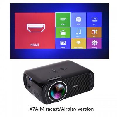 LED ТВ проектор Everycom X7A WiFi Miracast / Airplay, черный, арт. 510