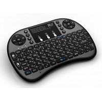 Беспроводная клавиатура c подсветкой Rii mini i8+, черная