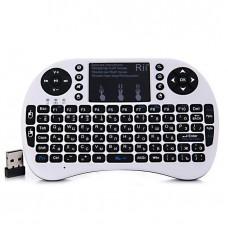Беспроводная клавиатура c Rii mini i8+ белая