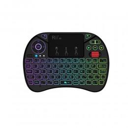 Беспроводная клавиатура c подсветкой, тачпадом и колесиком Rii X8, арт. 713