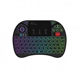 Беспроводная клавиатура c подсветкой, тачпадом, микрофоном и колесиком Rii X8PRO, арт. 955
